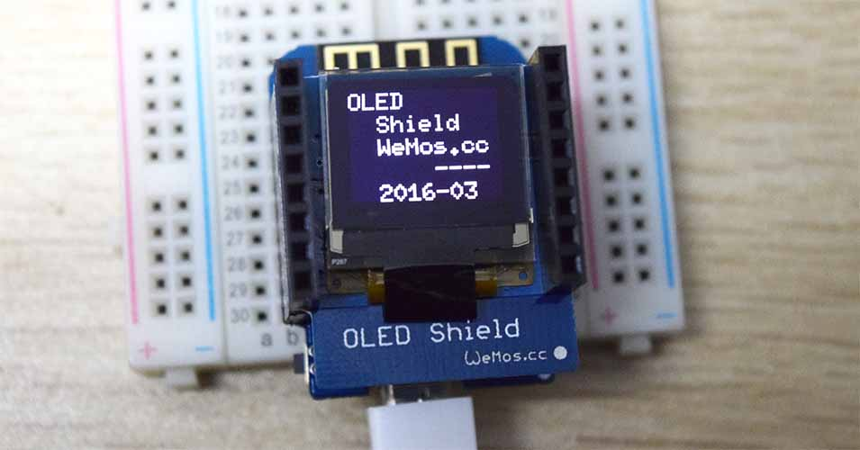 Oled shield for wemos d mini quot in iic i c