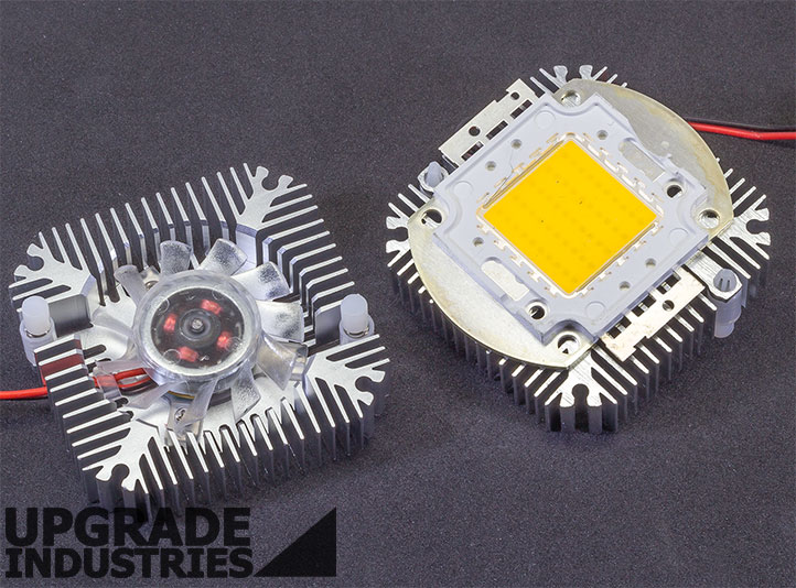 1x 5w To 10w Aluminum Led Thermal Heat Sink With Active Cooling Fan 12vdc 90ma Ebay
