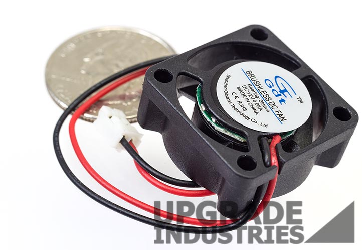1x Brushless DC Cooling Fan 7 Blade DC 12V 25mm x25mmx07mm 2507 2 Pin Wire 0.12A