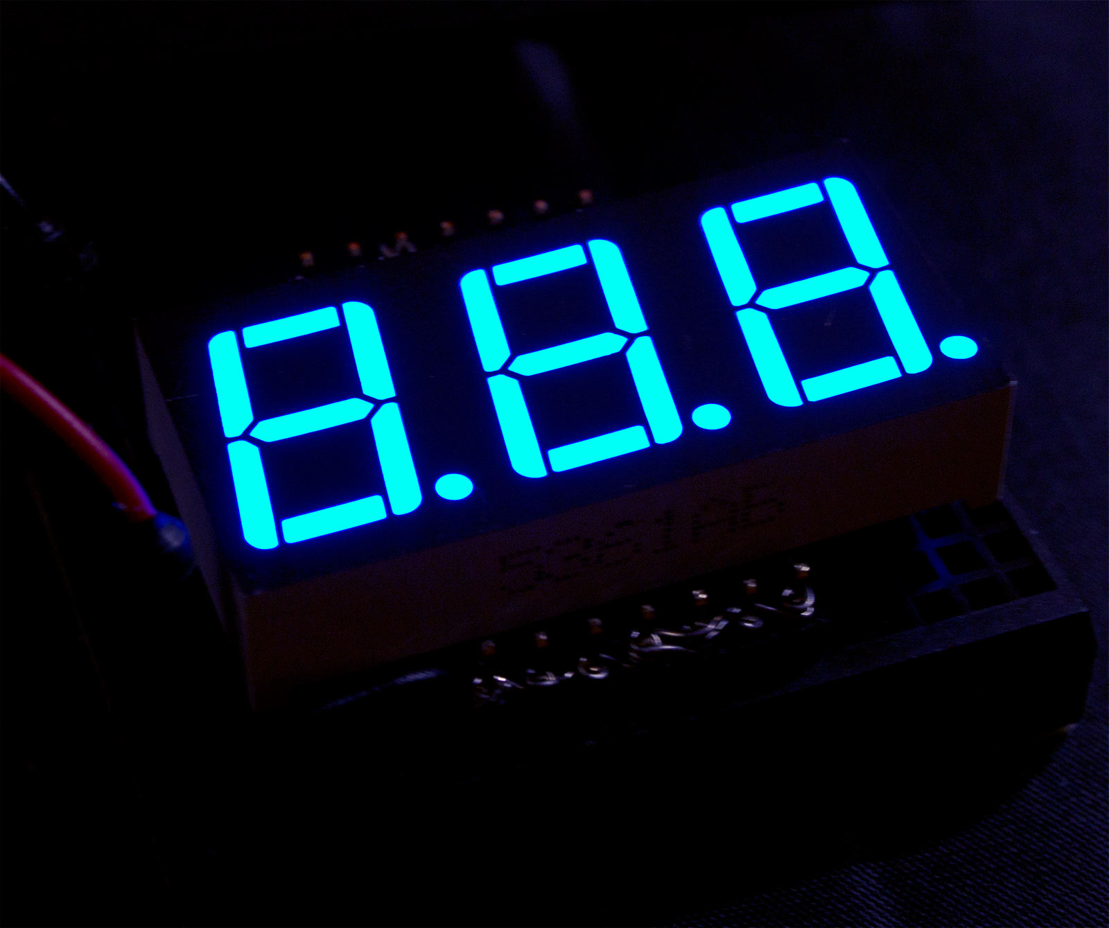 Blue 7 Segment Display