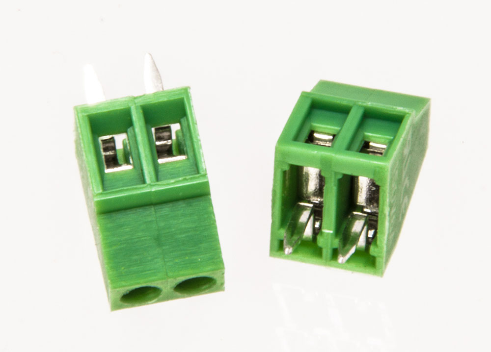 2-position 2.54mm Screw Terminal