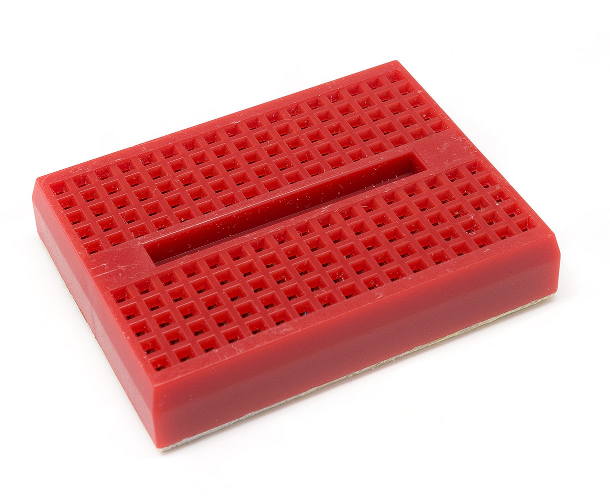 Red 170 Point Mini Breadboard