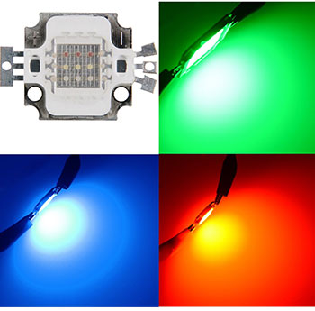 10W Common Anode Color Channels